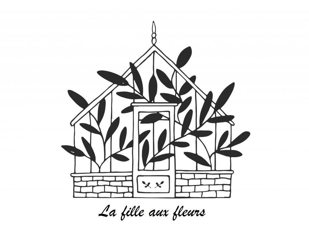 Logo fille aux fleurs